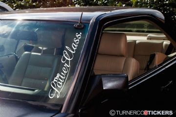 ' The Lower Class ' Large lowered car windscreen stickers decals - JDM, EURO, Drift , Stance